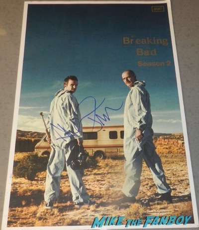 aaron paul signed breaking bad season two presskit rare