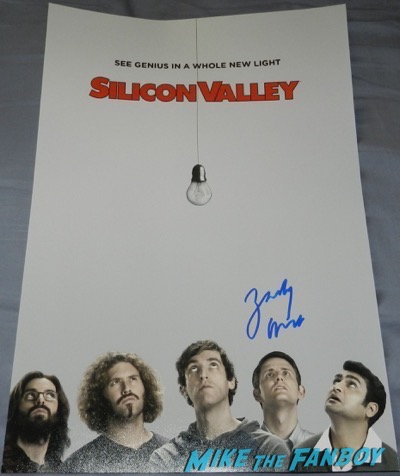 zach woods signed autograph silicon valley poster season 2