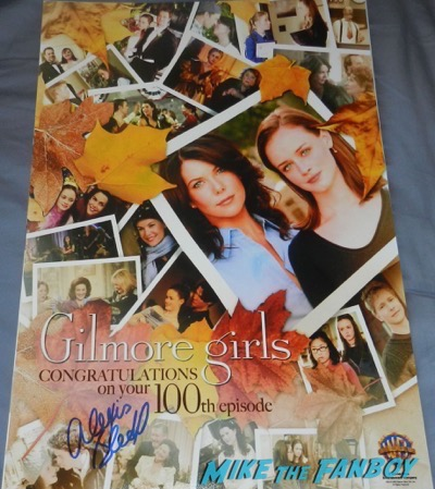 Alexis Bledel signed autograph gilmore girls poster rare