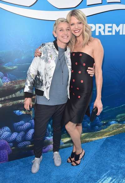 HOLLYWOOD, CA - JUNE 08:  Actresses Ellen DeGeneres (L) and Kaitlin Olson attend The World Premiere of Disney-Pixarís FINDING DORY on Wednesday, June 8, 2016 in Hollywood, California.  (Photo by Alberto E. Rodriguez/Getty Images for Disney) *** Local Caption *** Ellen DeGeneres; Kaitlin Olson