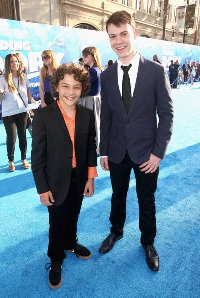 HOLLYWOOD, CA - JUNE 08: Actors Hayden Rolence (L) and Alexander Gould attend The World Premiere of Disney-Pixarís FINDING DORY on Wednesday, June 8, 2016 in Hollywood, California.  (Photo by Jesse Grant/Getty Images for Disney ) *** Local Caption *** Hayden Rolence; Alexander Gould