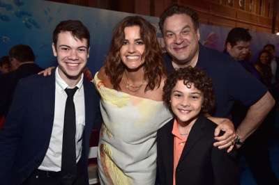 HOLLYWOOD, CA - JUNE 08: (L-R) Actor Alexander Gould, producer Lindsey Collins, actors Jeff Garlin and Hayden Rolence attend The World Premiere of Disney-Pixarís FINDING DORY on Wednesday, June 8, 2016 in Hollywood, California.  (Photo by Alberto E. Rodriguez/Getty Images for Disney) *** Local Caption *** Alexander Gould; Lindsey Collins; Jeff Garlin; Hayden Rolence