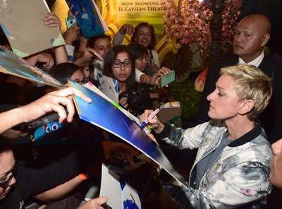 HOLLYWOOD, CA - JUNE 08:  Actress Ellen DeGeneres attends The World Premiere of Disney-Pixarís FINDING DORY on Wednesday, June 8, 2016 in Hollywood, California.  (Photo by Alberto E. Rodriguez/Getty Images for Disney) *** Local Caption *** Ellen DeGeneres