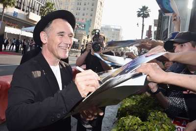"HOLLYWOOD, CA - JUNE 21:  Actor Mark Rylance arrives on the red carpet for the US premiere of Disney's ""The BFG,"" directed and produced by Steven Spielberg. A giant sized crowd lined the streets of Hollywood Boulevard to see stars arrive at the El Capitan Theatre. ""The BFG"" opens in U.S. theaters on July 1, 2016, the year that marks the 100th anniversary of Dahl's birth, at the El Capitan Theatre on June 21, 2016 in Hollywood, California.  (Photo by Alberto E. Rodriguez/Getty Images for Disney) *** Local Caption *** Mark Rylance"