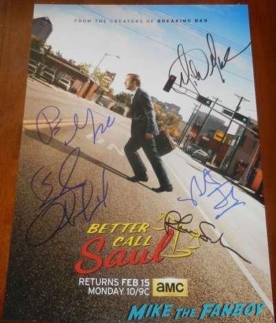 Better Call Saul cast signed autograph season 2 poster