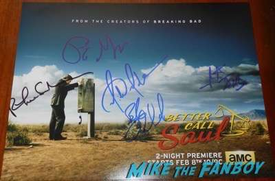 Better Call Saul cast signed autograph season 2 poster