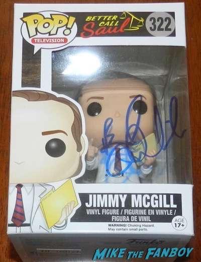 Bob Odenkirk Jimmy Mcgill pop vinyl signed autograph funko