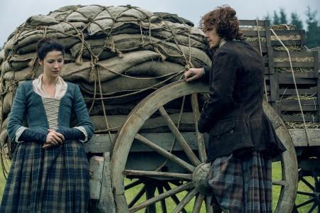 Caitriona Balfe (as Claire Randall Fraser), Sam Heughan (as Jamie Fraser)- Episode 209