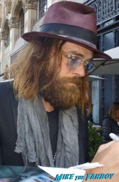 Christopher Backus cameron crowe signing autographs Roadies premiere