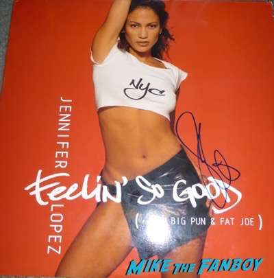 Jennifer Lopez signed autograph feelin so good lp vinyl
