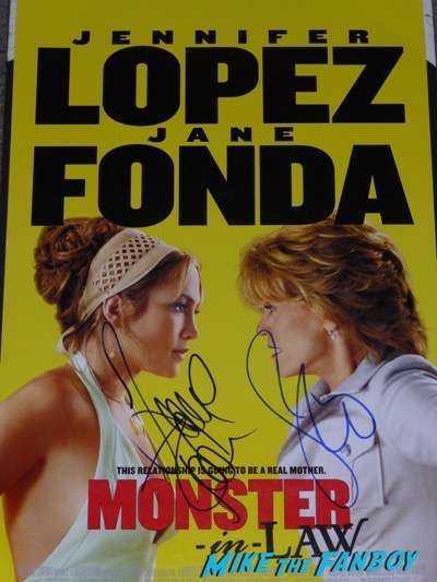 Jennifer Lopez jane fonda signed monster in law poster autograph