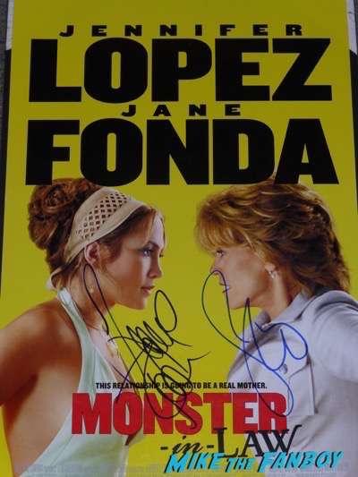 Jennifer Lopez jane fonda signed monster in law poster autograph