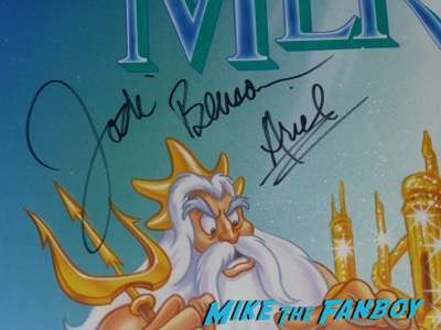Little Mermaid Cast signed autograph movie poster jodi Benson Christopher Daniel Barnes