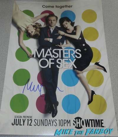 Michael Sheen signed autograph masters of sex poster