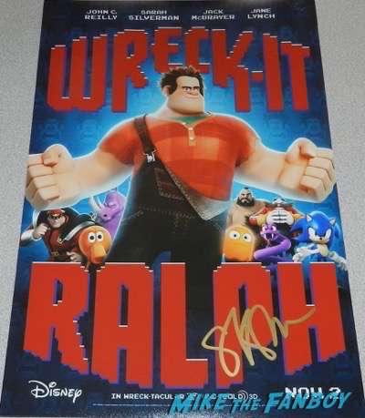 Sarah Silverman signed autograph wreck it ralph poster