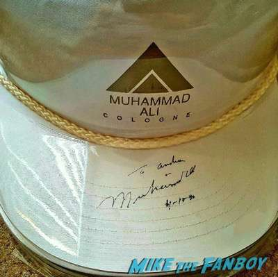 Muhammad Ali signed autograph 1