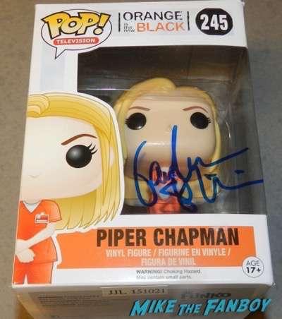 Orange Is The New Black piper signed autograph pop vinyl funko taylor schilling