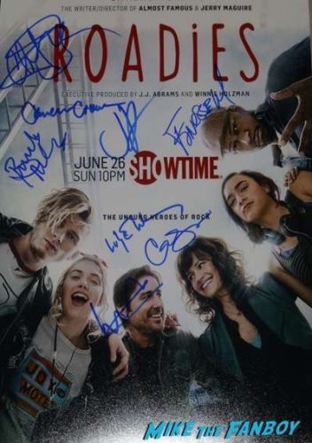 Roadies cast signed autograph Poster cameron crowe