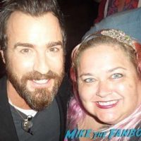 Justin Theroux fan photo selfie meeting fans
