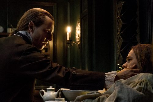 Tobias Menzies (as Black Jack Randall), Laurence Dobiesz (as Alex Randall) Ep. 212