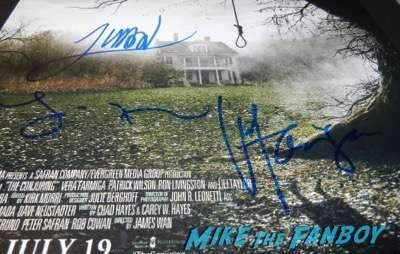 Vera Farmiga signed autograph conjuring poster james wan
