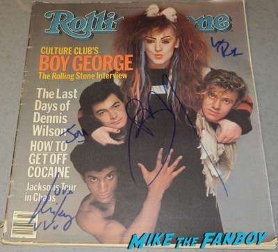 culture club boy george signed autograph rolling stone magazine 1984 psa
