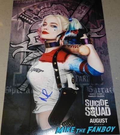 Margot Robbie Signed Autograph Suicide Squad mini poster PSA character poster