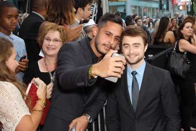 "- New York, NY - 6/6/16 - Summit Entertainment Presents the World Premiere of ""Now You  See Me 2"" -Pictured: Daniel Radcliffe with fans -Photo by: Marion Curtis/StarPix"