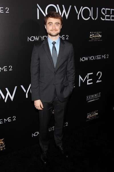 """- New York, NY - 6/6/16 - Summit Entertainment Presents the World Premiere of """"Now You  See Me 2"""" -Pictured: Daniel Radcliffe -Photo by: Marion Curtis/StarPix"""