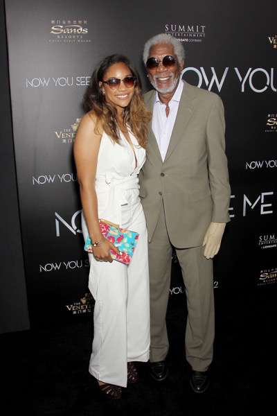 "- New York, NY - 6/6/16 - Summit Entertainment Presents the World Premiere of ""Now You  See Me 2"" -Pictured: Alexis Freeman, Morgan Freeman -Photo by: Marion Curtis/StarPix"