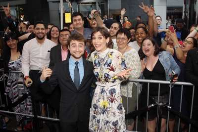 "- New York, NY - 6/6/16 - Summit Entertainment Presents the World Premiere of ""Now You  See Me 2"" -Pictured: Daniel Radcliffe, Lizzy Caplan with Fans -Photo by: Marion Curtis/StarPix"