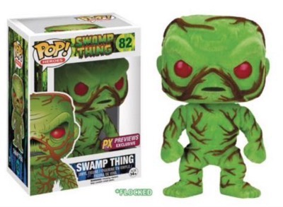 sdcc funko exclusive flocked swamp thing pop vinyl 1
