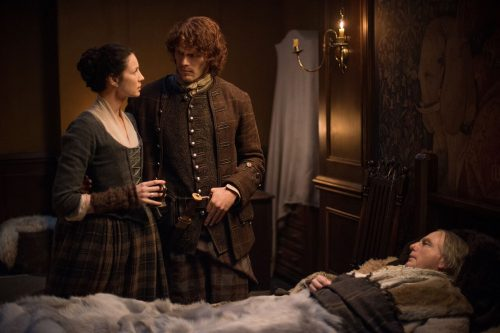 Caitriona Balfe (as Claire Randall Fraser), Sam Heughan (as James Fraser) Ep. 212