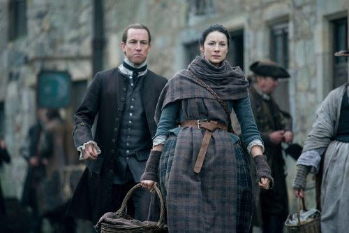 obias Menzies (as Black Jack Randall), Caitriona Balfe (as Claire Randall Fraser) Ep. 212