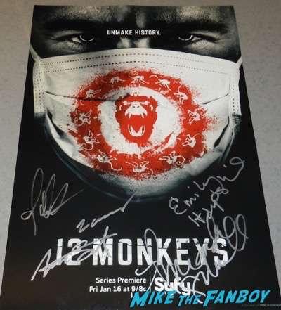 12 Monkeys cast signed autograph season one poster psa