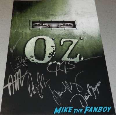 oz kirk acevedo signed autograph poster season one psa