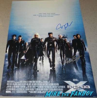 x2 aaron stamford signed autograph poster season one psa