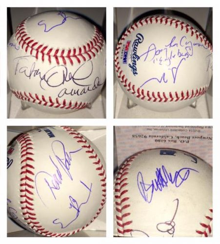 Bad News Bears Cast Reunion Signing autographs