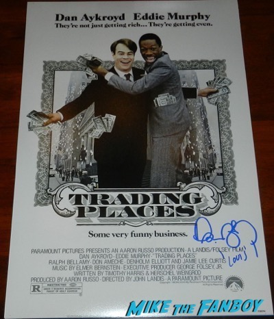 Dan Aykroyd signed autograph trading places poster