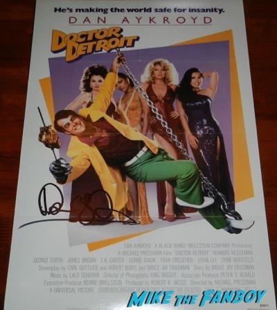 Dan Aykroyd signed autograph doctor detroit poster
