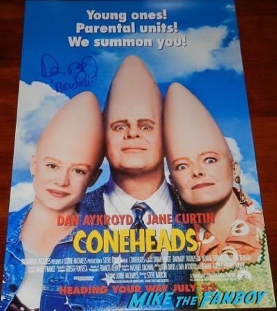 Dan Aykroyd signed autograph coneheads poster