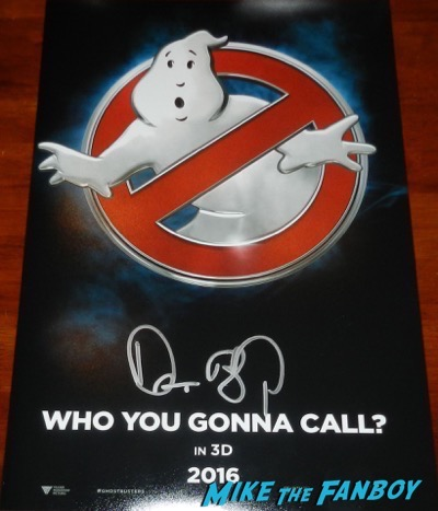 Dan Aykroyd signed autograph ghostbusters poster