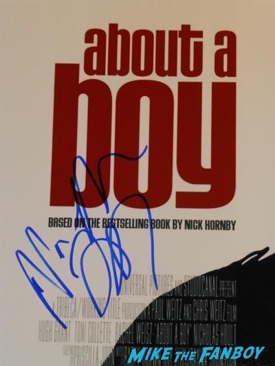 nicholas hoult signed autograph about a boy poster