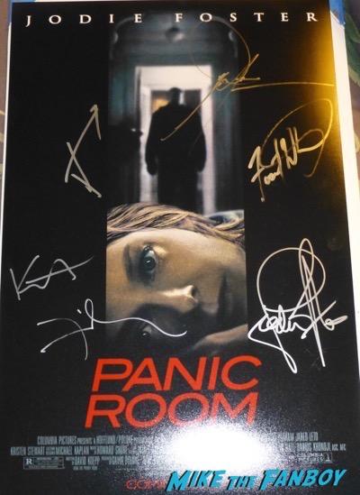 kristen stewart signed autograph panic room poster