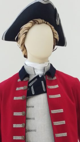 Captain Jack Randall (British military uniform with red wool frock coat and linen waistcoat)