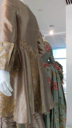 Back Details Loiuse de Rohan Pistachio gown and King Louis XV Gold suit