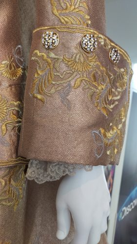 Sleeve detail King Louis XV gold embroidered suit