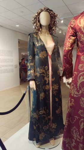 Front: Claire Fraser Dressing Robe (Hand-painted blue silk)
