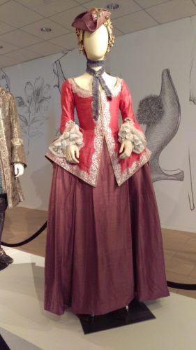 Annalise de Marillac (Pink silk casaquain with silver and lavender silk skirt)