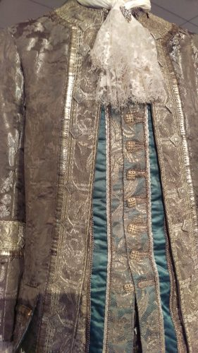 Comte St. Germain (Silver suit with metal trim and turquoise waistcoat with silver embellishments)